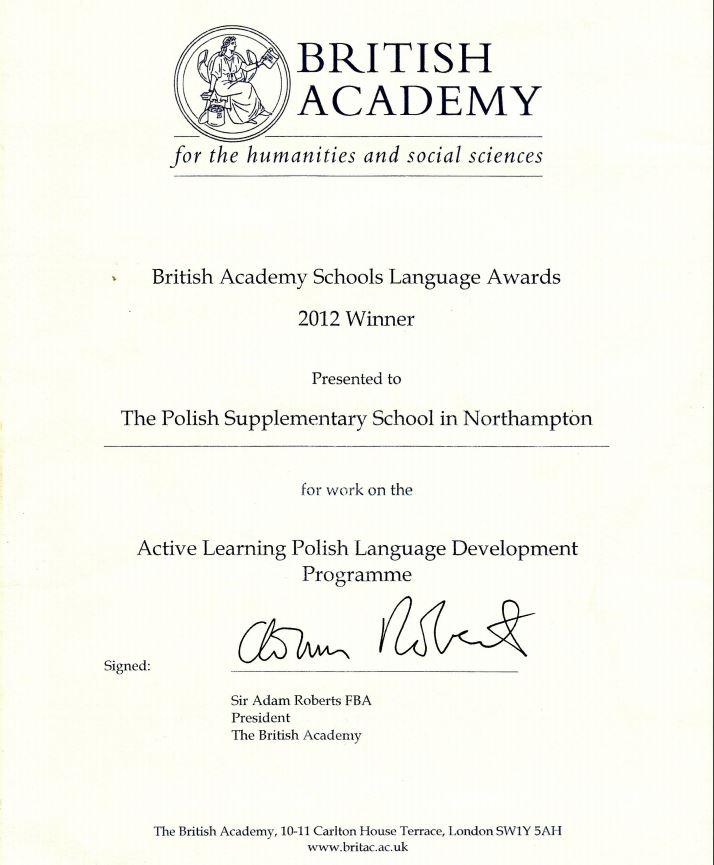 British Academy Winner