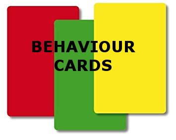 behaviour cards